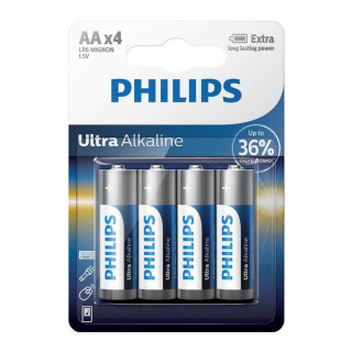 Philips Ultra Alkaline AA 4-blister (LR6LE4B/10) PC