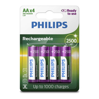 Philips Rechargeable AA 2500 mAh Ready To Use 4-blister (R6B4RTU25/10) PC