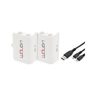 Venom VS2860 Xbox One fehér akkucsomag (2db) + 2 méter töltőkábel