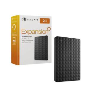 Seagate Expansion; 2,5'' külső merevlemez, 2TB, USB 3.0, fekete (STEA2000400) PC
