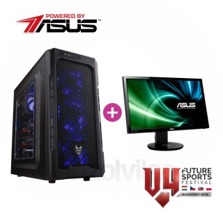 V4 Gamer konfiguráció (Powered by ASUS) + Asus Gamer Monitor PC