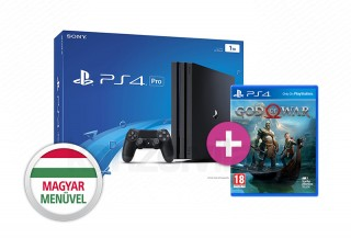 PlayStation 4 Pro (PS4) 1TB (fekete) + God of War (2018) PS4