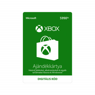 5990 forintos Microsoft XBOX ajándékkártya digitális kód MULTI