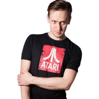 Atari Logo - Fekete Póló - Good Loot (XL-es méret)