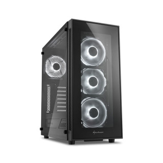 Sharkoon TG5 LED (Ablakos) - Fekete-Fehér (4044951020591) PC