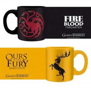 GAME OF THRONES - 2db Bögre - Targaryen & Baratheon (110ml)