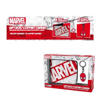 MARVEL - Pénztárca + Kulcstartó - Marvel Spiderman