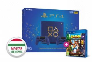 PlayStation 4 (PS4) Slim 500GB Days of Play Limited Edition két kontrollerrel