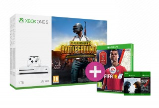 Xbox One S 1TB + PUBG+ Halo 5 + Gears of War Ultimate + FIFA 18 XBOX ONE