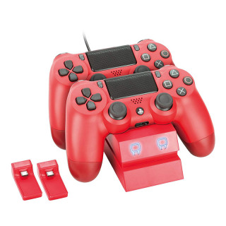 Venom VS2739 Twin Docking Station PS4 piros Magma Red töltőállomás