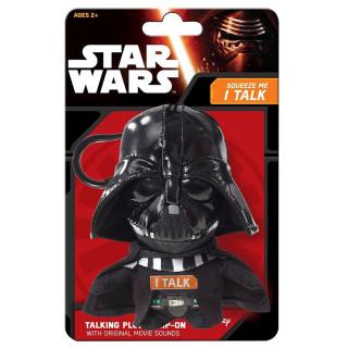 STAR WARS - Darth Vader - Plüss mini kulcstartó (beszélő - 17cm)