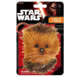 STAR WARS - Chewbacca - Plüss mini kulcstartó (beszélő - 17cm)
