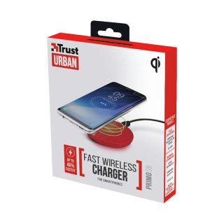 Trust 22863 Primo10 Fast gyors vezeték nélküli okostelefon töltő (Piros)
