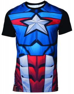 Marvel - Szublimációs póló - Captain America (L-es méret)
