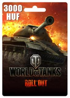 World of Tanks Feltöltőkártya 3000HUF