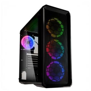 Kolink Levante RGB E-ATX Edzett üveg Fekete Számítógépház  PC