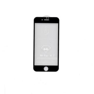 iPhone 6/6s 6D Prémium minőségű üvegfólia (Fekete) Mobil