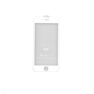 iPhone 7+/8+ 6D Prémium minőségű üvegfólia (Fehér) Mobil