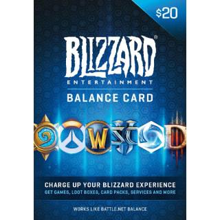 Blizzard - Battle.net feltöltő kártya 20€ (Letölthető)