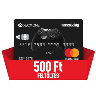 Konzolvilág Mastercard kártya feltöltés 500 Ft Több platform