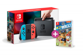 Nintendo Switch (Piros-Kék) + Paw Patrol Switch