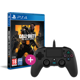Call of Duty: Black Ops 4 + Nacon wired kontroller (fekete) PS4