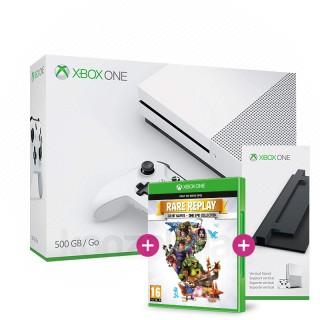 Xbox One S (Slim) 500 GB (white) + Vertical Stand + Rare Replay Xbox One