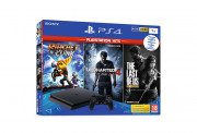 PlayStation 4 (PS4) Slim 1TB + Ratchet & Clank + The Last of Us + Uncharted 4 (PlayStation Hits) PS4