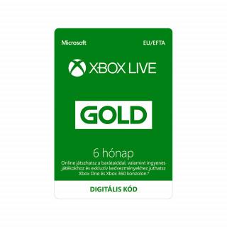 Xbox Live Gold 6 hónapos előfizetés (letölthető) MULTI