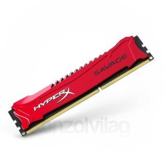 Kingston 4GB/2400MHz DDR-3 HyperX Savage XMP (HX324C11SR/4) memória (Bontott) PC