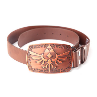 Nintendo - Öv + övcsat - Zelda Brown Belt Patina Buckle