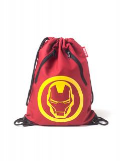 Marvel - Táska - Iron Man Rubber Print Gymbag AJÁNDÉKTÁRGY