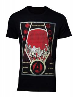 Avengers - Póló - Constructivism Poster Men's T-shirt XL AJÁNDÉKTÁRGY