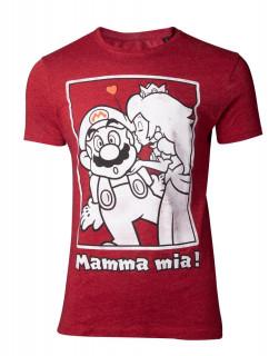 Nintendo - Super Mario Peach Kiss - Póló - XL AJÁNDÉKTÁRGY