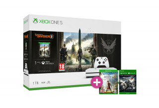 Xbox One S 1TB + The Division 2 + Assassin's Creed Odyssey + Gears of War 4 XBOX ONE