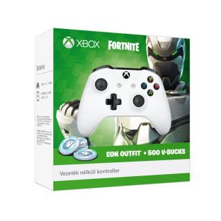 Xbox One Vezeték nélküli kontroller (Fehér) + Fortnite EON Outfit & 500V-BUCKS