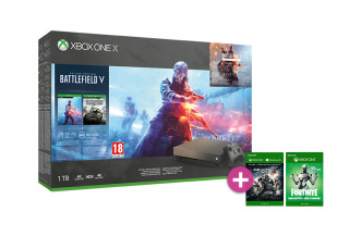Xbox One X 1TB Gold Rush Special Edition + Battlefield V + Gears of War 4 XBOX ONE