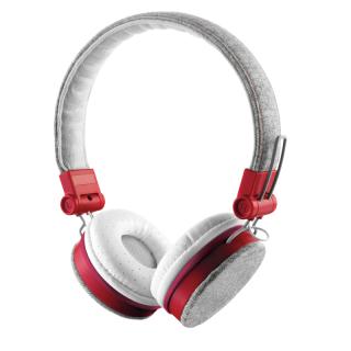 Trust Fyber fejhallgató - szürke/piros PC