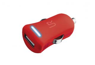 Trust 1A USB autós töltő piros