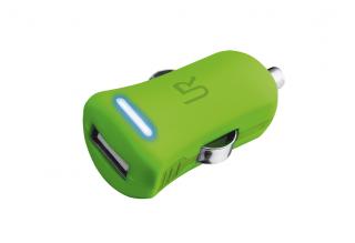 Trust 1A USB autós töltő zöld