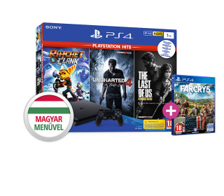 PlayStation 4 (PS4) Slim 1TB + Ratchet & Clank + The Last of Us + Uncharted 4 + Far Cry 5 PS4
