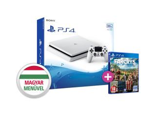 PlayStation 4 (PS4) Slim 500GB Glacier White + Far Cry 5 PS4