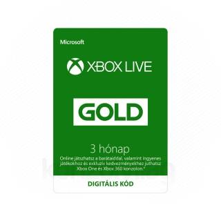 Xbox Live Gold 3 hónapos előfizetés (DIGITÁLIS KÓD) (Letölthető)  MULTI