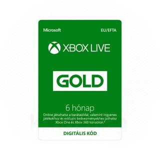 Xbox Live Gold 6 hónapos előfizetés (DIGITÁLIS KÓD) (Letölthető) MULTI