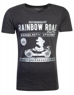Mario Kart - Vintage Garage Men's T-shirt (M-I) (M-es méret) AJÁNDÉKTÁRGY