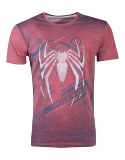 Spiderman - Acid Wash Spider Men's - Póló (L-es méret) Ajándéktárgyak