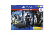 PlayStation 4 (PS4) Slim 1TB + Horizon Zero Dawn + The Last of Us + Uncharted 4 PS4