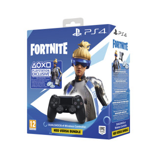 PlayStation 4 (PS4) Dualshock 4 Kontroller (Fekete) + Fortnite Neo Versa csomag PS4