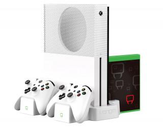 Venom VS2862 Vertical Charging Stand for Xbox One S Fehér függőleges állvány és töltő állomás