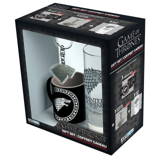 GAME OF THRONES - Pck Glass 29cl + Keyring + Mini Mug
